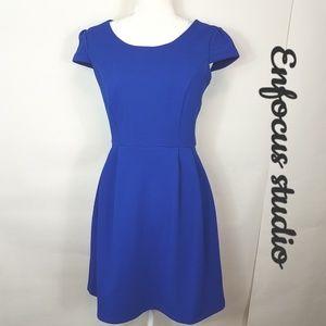 Enfocus studios purple fit & flare dress size 8
